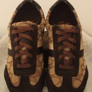 Coach Joss Signature C Brown Canvas Sneaker